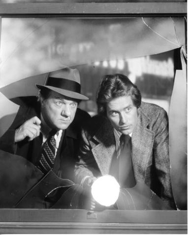 Michael Douglas and Karl Malden