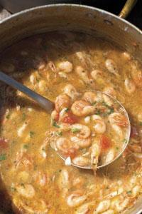 Spaghetti with Shrimp and Tomato Passatina