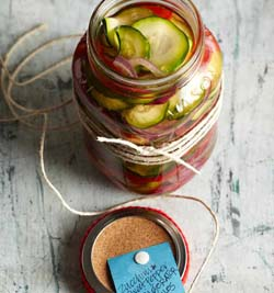 Zucchini-Sweet Pepper Refrigerator Pickles