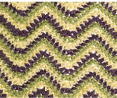 Flower Diamond, Wave Stitch Patterns