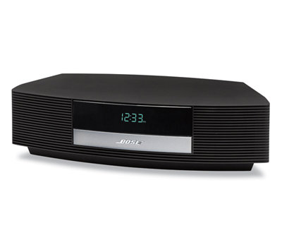 nice bose wave radio iii compact am fm alarm clock w remote black ipod cord. Black Bedroom Furniture Sets. Home Design Ideas