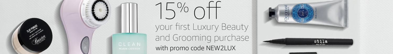 15% off Luxury Beauty
