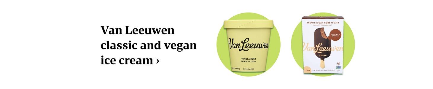 Van Leeuwen classic and vegan ice cream