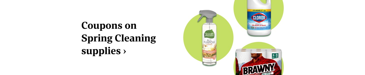 Coupons on Spring Cleaning supplies