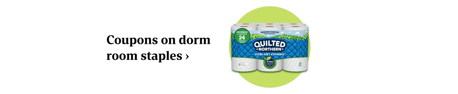 Coupons on dorm room staples