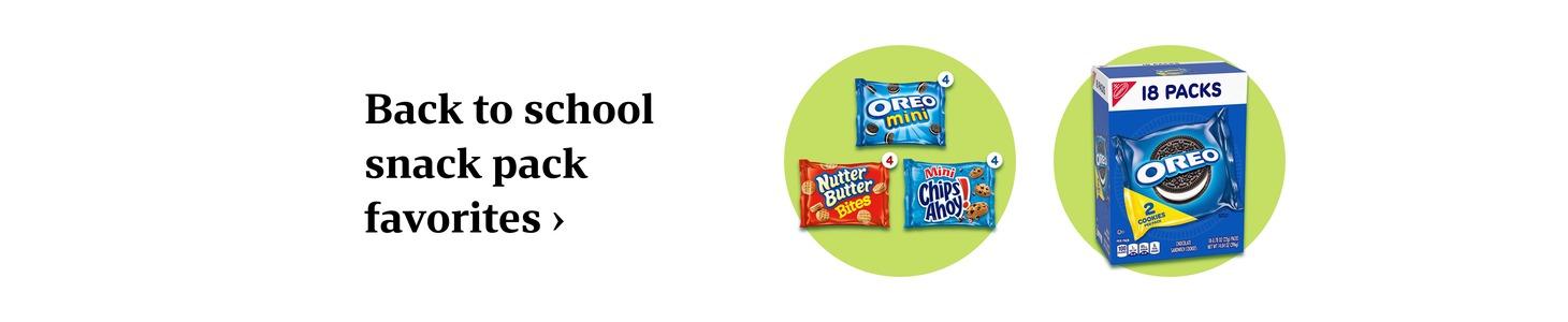 Back to school snack pack favorites