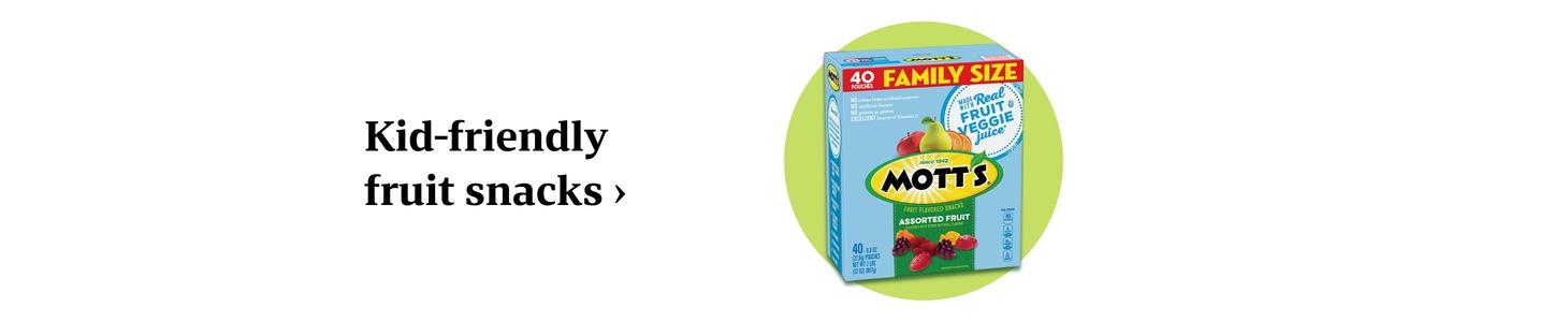 Kid-friendly fruit snacks