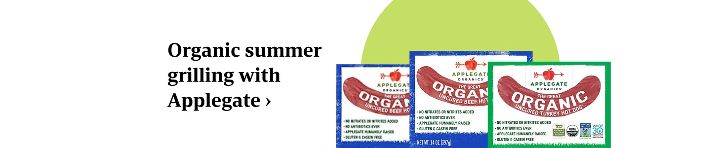 Organic summer grilling with Applegate