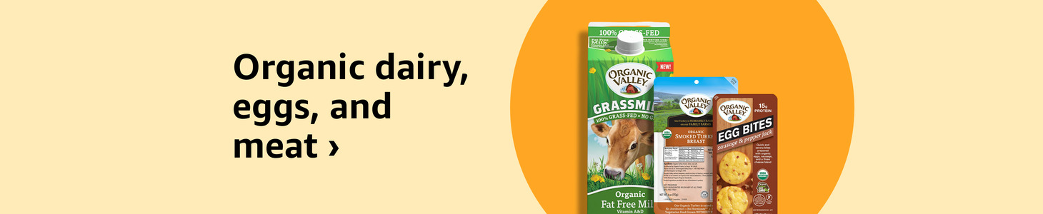 Organic dairy, eggs, and meat