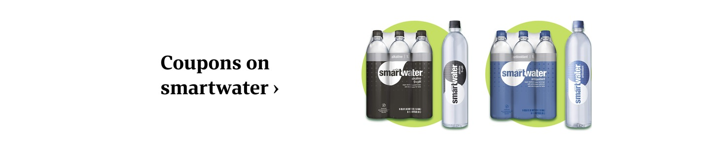 Coupons on smartwater