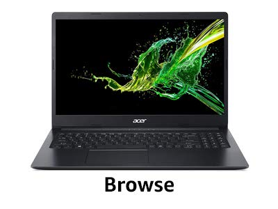 Browse laptop
