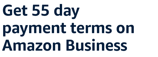 Get 55 day payment terms on Amazon Business