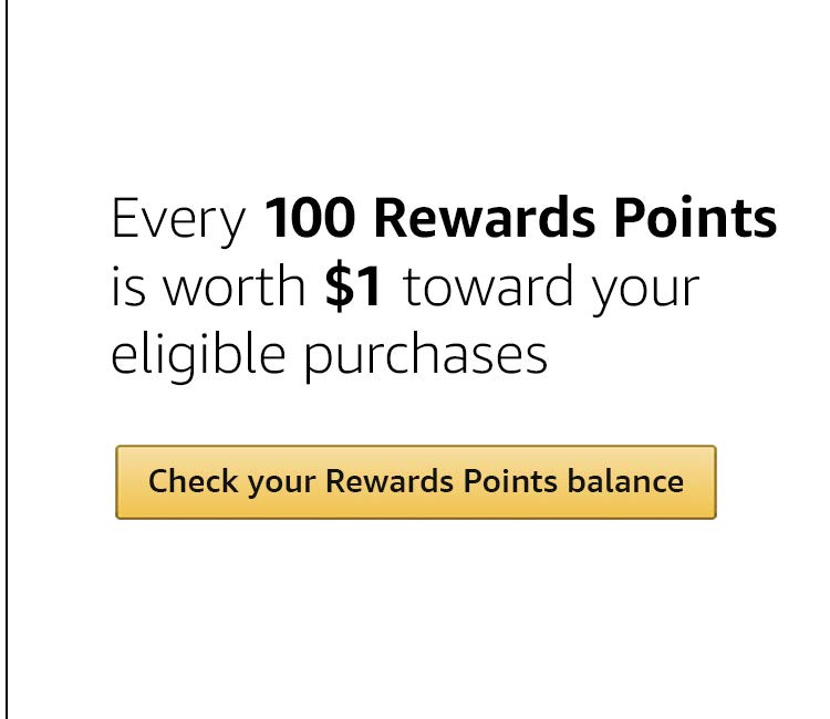 Every 100 Rewards Points is worth $1 toward your eligible purchases