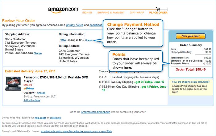 Amazon.com Shop with Points