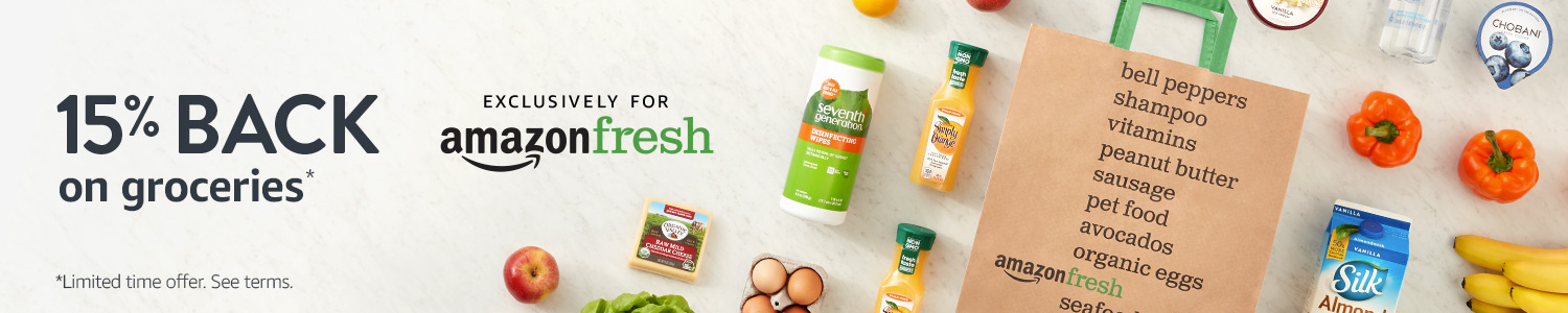 15% Back on groceries with AmazonFresh
