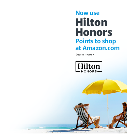 Now use Hilton Honors Points to shop at Amazon.com