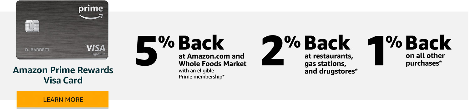 Amazoncom Earn With The Amazon Rewards Visa Credit Payment Cards