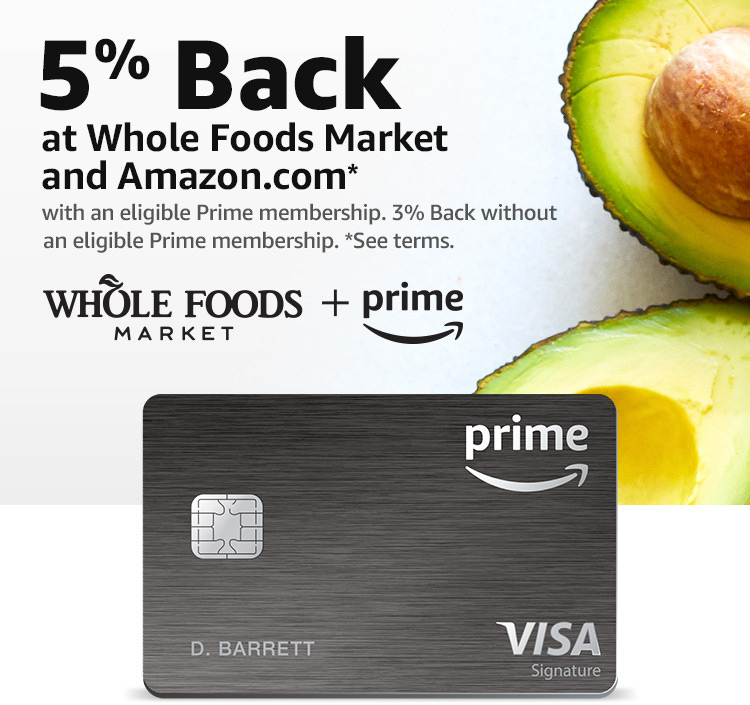 Amazon.com: 7% Back at Whole Foods Market: Credit & Payment Cards