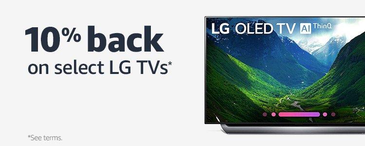 10% back on select LG TVs*