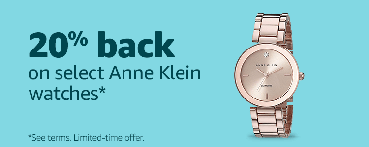 20% back on select Anne Klein watches*