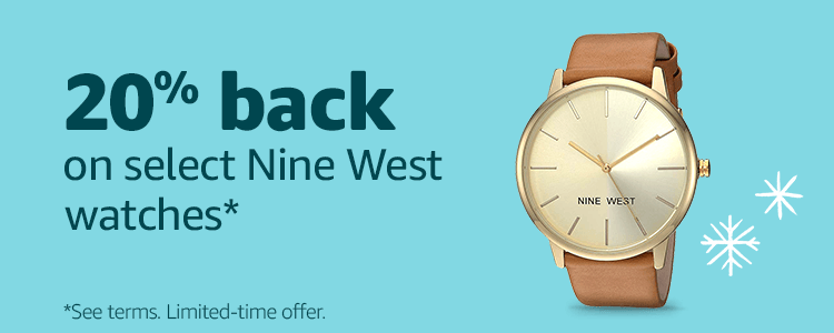 20% back on select Nine West watches*