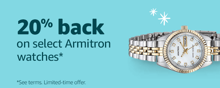 15% back on select Armitron watches*