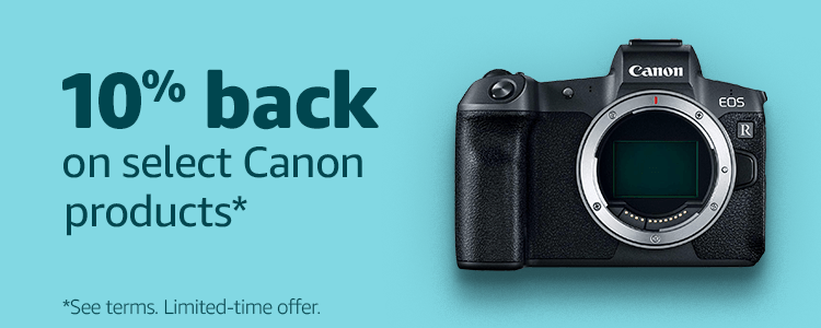 10% back on select Canon products*