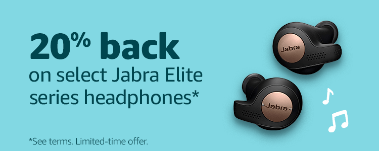20% back on select Jabra Elite series headphones*