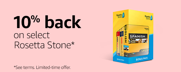 10% back on select Rosetta Stone*