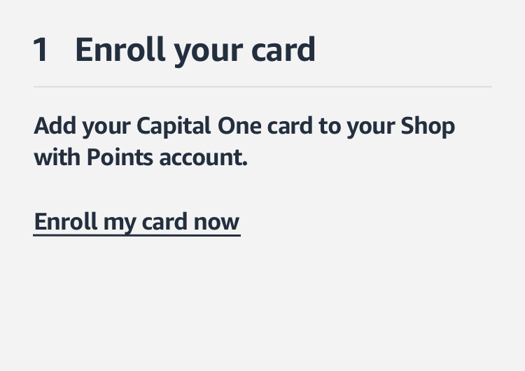 Enroll your card