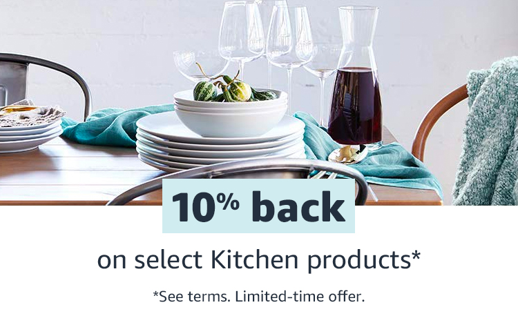 10% back on select Kitchen favorites. See terms. Limited time offer.