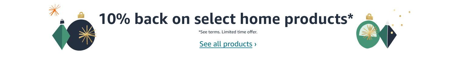 10% back on select home products