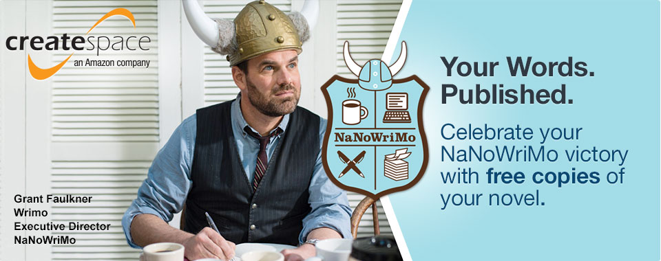 Your words published - celebrate your NaNoWriMo victory with free copies of your novel.