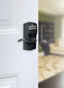 Schlage Fe595vcam716acc Camelot Keypad Accent Lever Door
