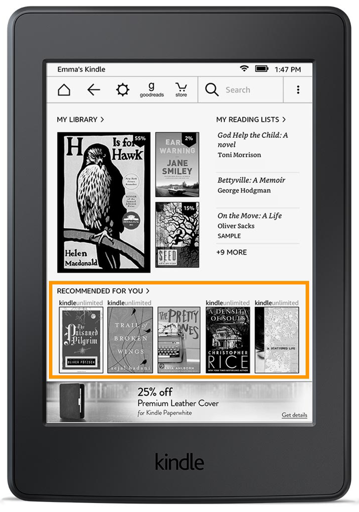 how to delete an item from your kindle