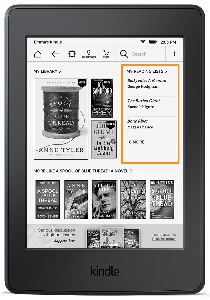 Kindle Update Kindle Store
