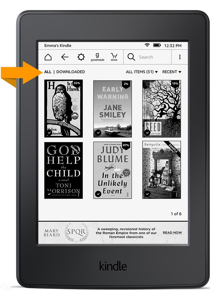 how to delete downloaded books from kindle