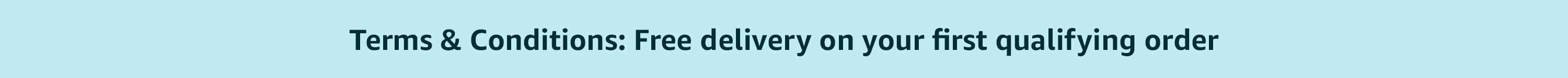 Free delivery on your first qualifying order