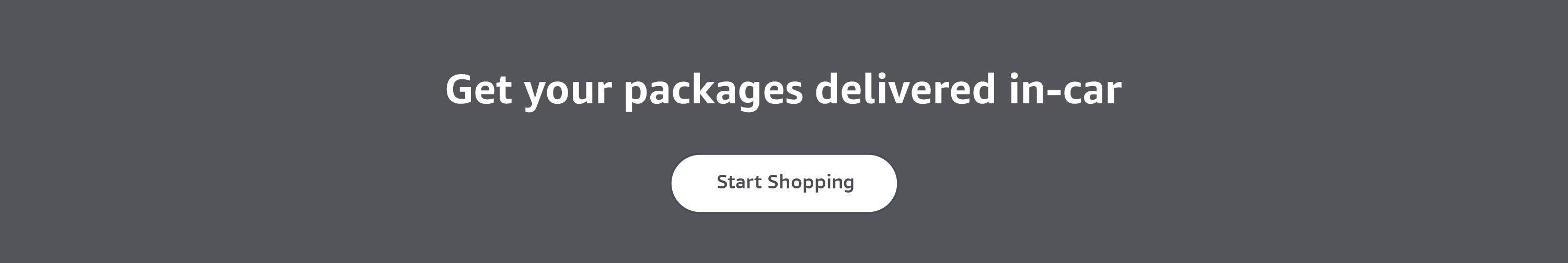 Get your packages delivered in-car