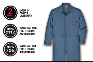 DICKIES FLAME-RESISTANT LONG SLEEVE COVERALL JV100