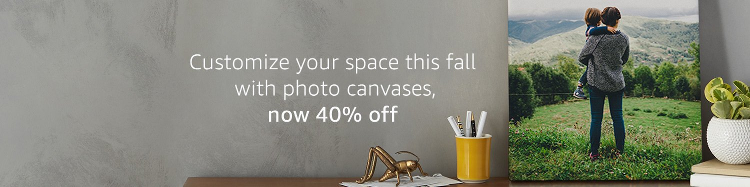 Customize your space this fall with photo canvases, now 40% off