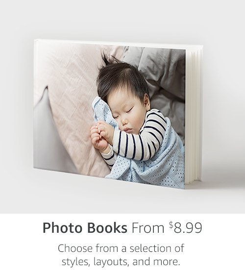 Photo Books From $8.99 | Choose from a selection of styles, layouts, and more.