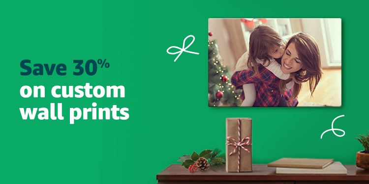 Save 30% on custom wall prints