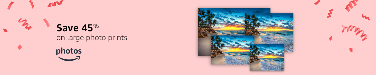 Save 45% on large photo prints with Photos