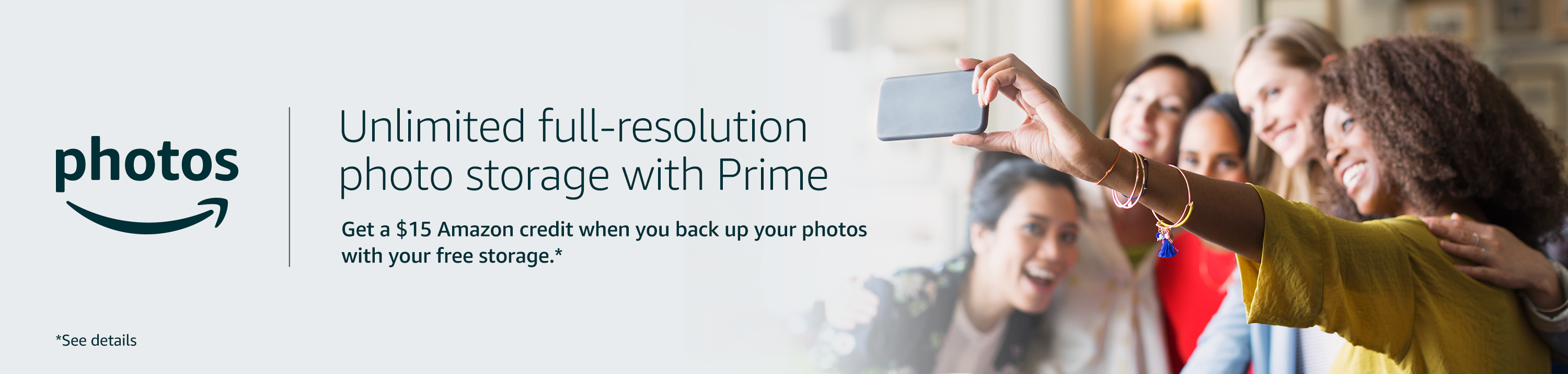 Unlimited full-resolution photo storage with Prime