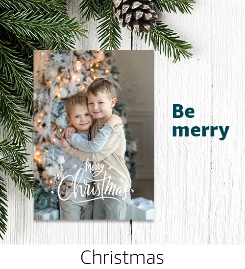 Cards | Be merry, share the merriest moments with Chistmas photo cards