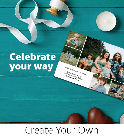 Cards | Create truly custom Holiday photo cards with Design Your Own styles