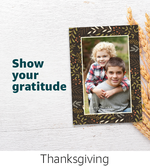 Cards | Show your gratitude with personalized Thanksgiving photo cards