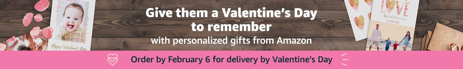 Give them a Valentine's Day to remember with personalized gifts from Amazon photos.
