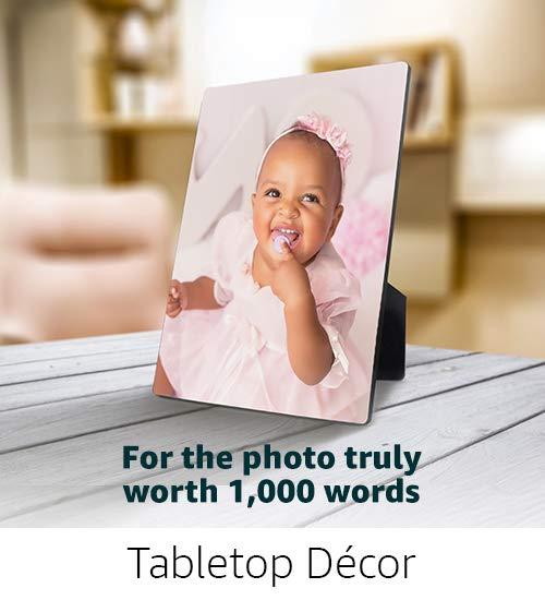 Photo Plaque Tabletop Decor
